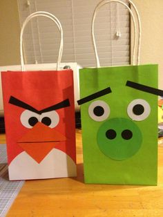 Angry Bird Party Favor Bags via Etsy