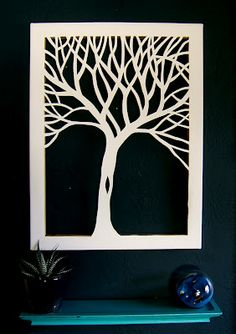 cutout canvas inspiration - from Nine Red. I already have an Exacto knife & a canvas...