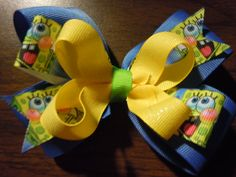 Check out this item in my Etsy shop https://www.etsy.com/listing/248705547/sponge-bob-hair-bow