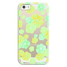 iPhone 6 Plus/6/5/5s/5c Bezel Case - Blossoms Retro Citrus -... ($35) ❤ liked on Polyvore