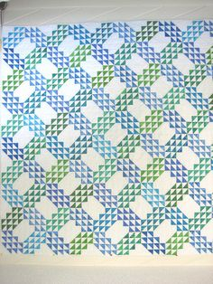 Ocean Waves quilt. Photo (and probably quilt) by bonnyarts on Flickr.