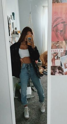 Casual School Outfits, Cute Comfy Outfits, Teen Fashion Outfits, Retro Outfits, Simple Outfits, Look Fashion, Stylish Outfits, Summer Outfits, Miami Outfits