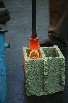 Projet etudiant : Concrete blown glass par Benjamin Fournier