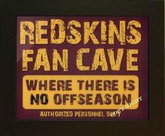 Redskins Fan Cave Offseason Sports Artwork