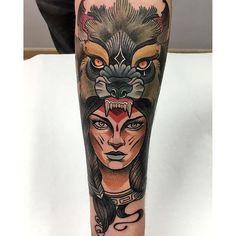 10 Bold Neo-Traditional Animal Cowl Tattoos | Tattoodo.com