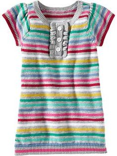 Multi-Stripe Henley Sweater Dresses for Baby | Old Navy