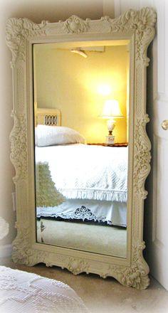 Vintage Leaning Floor Mirror, Opulent Hollywood Regency. $699.00, via Etsy.