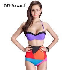 $19.56 (Buy here: https://alitems.com/g/1e8d114494ebda23ff8b16525dc3e8/?i=5&ulp=https%3A%2F%2Fwww.aliexpress.com%2Fitem%2F2015-New-Arrival-Women-Halter-Bikini-Set-Push-Up-Swimsuit-Color-Patchwork-Swimwear-Retro-High-Waist%2F32379054052.html ) 2016 New Arrival Women Halter Bikini Set Push Up Swimsuit Color Patchwork Swimwear Retro High Waist Bathing Suit Special Design for just $19.56