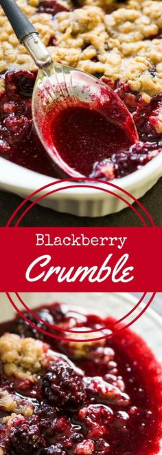 You'll love this easy blackberry crumble recipe. Even if you've never baked from scratch before, you'll find this recipe to be a snap! via (Baking Desserts From Scratch) Blackberry Crumble, Blackberry Recipes, Fruit Recipes, Sweet Recipes, Dessert Recipes, Cooking Recipes, Fruit Crumble, Kabob Recipes, Fondue Recipes