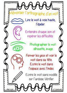 affichage mémoriser des mots