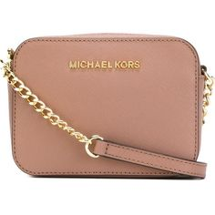 Michael Michael Kors Jet Set Traveller Cross Body Bag ($121) ❤ liked on Polyvore featuring bags, handbags, shoulder bags, leather cross body purse, leather crossbody, leather crossbody handbags, leather purse and leather handbags