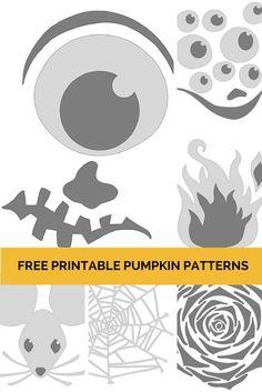 Lots of FREE Printable Pumpkin Patterns on HGTVGardens.com! --> http://www.hgtvgardens.com/photos/pumpkin-carving-patterns?soc=pinterest
