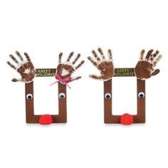 reindeer hand print frame for kids to make for parents by els1000