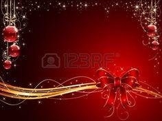 fond clair avec des décorations des rubans: Sur fond rouge bow et boules de Noël, illustration