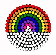 Rainbow Perler Bead Pattern / Bead Sprite
