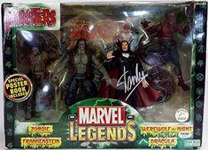 Stan Lee Signed Marvel Legends Monsters Zombie Dracula Werewolf Frankenstein PSA/DNA @ niftywarehouse.com
