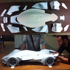 #Ferrari #ferrarimodel #thesis #ArtCenter #ACCD #over240parts #Bondolife #sandpaper #pain #love #passion #cheese #3Dprinting #cnccenterbody #PieroT2 #epoxy #watertighteningsufacesissooooannoying!!! #T2 #Raeli #MRaeli #5thscale #primer #sandsandsand #nosleep #ACCD by marcello_raeli