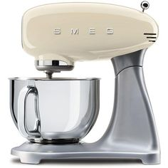 Smeg SMF01 5-Qt. Stand Mixer (52.325 RUB) ❤ liked on Polyvore featuring home, kitchen & dining, small appliances, cream and smeg