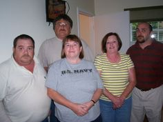 me, with my sister claudie and my three brothers, Thomas, George and Martin. I am the heavy one in the u.s. navy T.shirt.