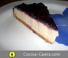 TARTA DE QUESO CON ARÁNDANOS. RECETA PASO A PASO http://www.cocina-casera.com/2012/05/tarta-de-queso-con-arandanos-receta.html Vía: @cocinacasera1