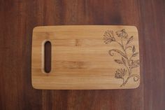 Board For Cuttings And Chopping. Decorative Wood Burning On Chopping Board