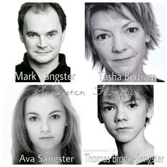 The Sangster Family. (Mark and Tasha got divorced. I dont know what year, though. But they are all in a band together called Winnet. Tasha, the lead singer, Mark, the drummer, Ava, the backup singer, and Thomas is the bass player. There are also other band members.)