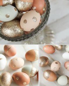 Glitter Easter Eggs. Inspired.