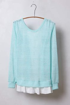 Ruffled and Ribboned Pullover - anthropologie.com