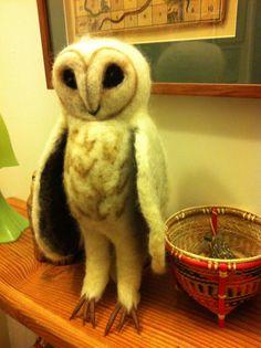 Felt owl by Elaine Beechey