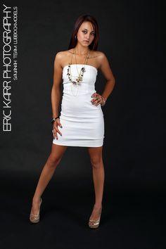 Savanah in White Dress.