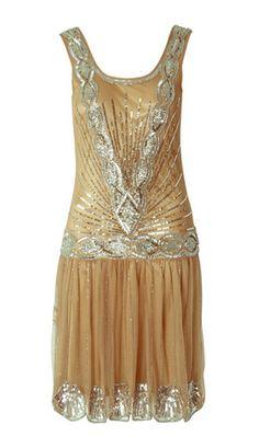 Domestic Sluttery: Dream Dress: Beaded Flapper Dress
