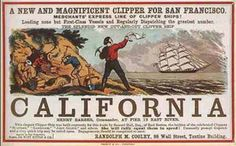 "Gold!! California gold rush poster <*> ""Gold! Gold! Gold from the American River!"" ~Samuel Brannan, running through the streets of San Francisco waving a bottle of gold dust in the air,1848.  (western, wild wild west)"