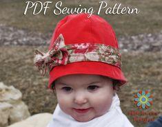 S110CHLD Azalea Baby Girl Hat PDF Sewing by StitchwerxDesigns