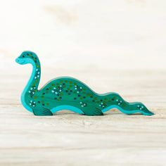 Wooden Narwhal figurine Sea Unicorn Toy