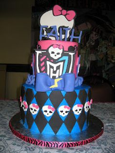monster high cake it even has faiths name on it!!! :-)