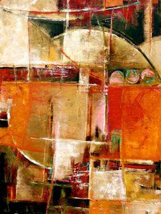 Abstract Painting ORIGINAL Quantum Orange by MElizabethChapman, $700.00