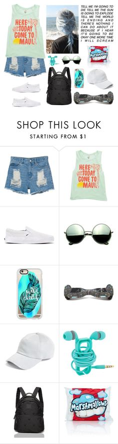 """Last day of summer"" by natalialovesnutella12 ❤ liked on Polyvore featuring Monki, Billabong, Vans, Revo, Casetify, Chanel, rag & bone and Tommy Hilfiger"