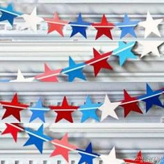 Fourth of July Star Spangled (Paint Chip) Banner tutorial