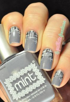 Mint polish Rue cler //  Monochromie - tweed black white grey - #nail #nails #nailart http://lapaillettefrondeuse.blogspot.be/2014/02/mint-polish-rue-cler-monochromie.html