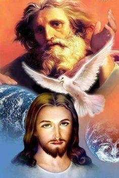 Novena Prayers, Bible Prayers, Christian Paintings, Christian Art, Santicima Trinidad, Miséricorde Divine, Jesus Our Savior, Jesus Mother, Pictures Of Jesus Christ