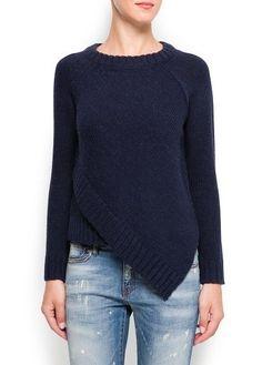 Alpaca wool asymmetric sweater - Cardigans and sweaters for Women Mode Crochet, Knit Crochet, Poncho Pullover, Knit Shrug, Asymmetrical Sweater, Alpaca Wool, Pulls, Hand Knitting, Knitting Patterns