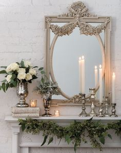 Winter whites winter home decor idea from Peaceful Presence of White Victoria Mag Charming French Country Decorating Ideas with Timeless Appeal Winter Home Decor, French Home Decor, French Country Decorating, Italian Country Decor, Top Country, French Cottage, French Country House, Country Living, French Country Fireplace