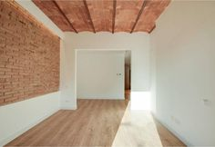 Empty Spaces, Empty Room, Industrial Design, Brick, Loft, Ceiling, Flooring, Mirror, Refurbishment