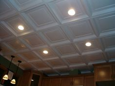 Decorative Drop Ceiling Tiles with RECESSED lighting