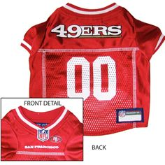 SF 49ers Dog Jersey - Alternate Style [SF-Jer-alt] - $29.95 : Old Timer Sanctuary, Helping shelters and rescues become more sustainable, for the latest NFL gear, apparel, collectibles, and merchandise for pets.