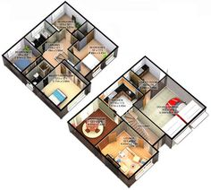 3D Floor Plan Home Pinterest House plans Inspiration and House