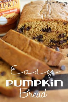 Easy Pumpkin Bread...this is in my oven right now, can't wait to taste it!!