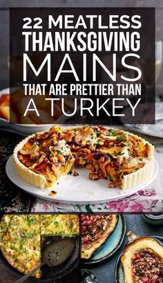 22 Delicious Meatless Mains To Make For Thanksgiving #dinner #recipes #supper…                                                                                                                                                                                 More
