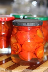 Homemade pickled pepperdew. Equal parts water, sugar and vinegar