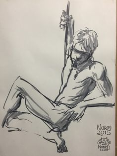 http://grizandnorm.tumblr.com/ Figure Drawing 06/18/2015 Great model today. Lots of creative, tension-filled poses. -norm